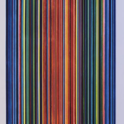 Strips after Richter. Aguafuerte aguatinta, acrílico. 90 x 63 CMS. 2018