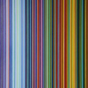 Strips after Richter 5. Acríico sobre tela. 162 x 130 CMS. 2017.