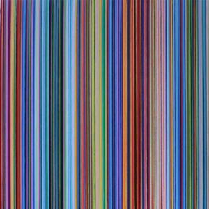 Strips after Richter 9. Acríico sobre tela. 100 x 100 CMS. 2017.